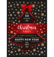 Christmas party Happy New Year Poster Christmas vector image