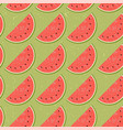 seamless pattern fruit water melon vector image
