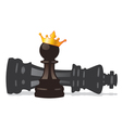 chess pawn and king vector image vector image