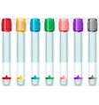 Cap Tube Set in Seven Colours vector image