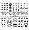 Tattoo set vector image vector image