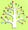 Abstract tree with colorful triangular leaves vector image