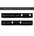 Clocksanners Black Friday Sale in Wonderland vector image