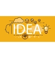 Idea Business Startup Banner Concept vector image