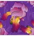 Seamless pattern of irises purple vector image