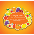 oval frame from fruits vector image vector image