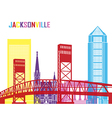 Jacksonville skyline pop vector image