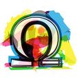 Artistic omega sign vector image