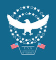 beauty eagle with american flag symbol vector image