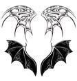 Black Dragon Wings vector image