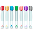 Cap Tube Set in Seven Colours vector image