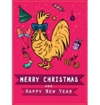 Chinese 2017 new year of the Rooster symbol Gold vector image