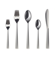Cutlery set isolated vector image
