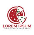 pizza food logo design vector image