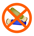 Two Bullets and The Forbidden Sign vector image