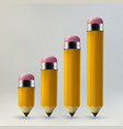 yellow pencils set vector image