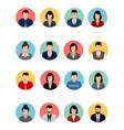 sixteen avatars set vector image