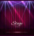 stage with closed curtains and spotlights vector image
