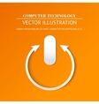 login page with tune power button vector image