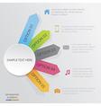 Diagram Social Media vector image