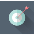 Flat target icon vector image