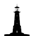 lighthouse black isolated on white vector image vector image