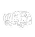 Outline of tipper vector image