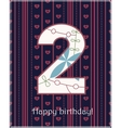 Happy birthday two card vector image vector image