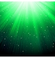 Stars on green striped background vector image vector image