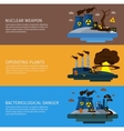 Environmental Pollution Colored Banner Set vector image