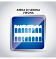arena di verona icon Italy culture design vector image