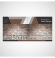 brick wall brochure vector image