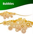 brown bubbles vector image