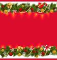 Christmas Border with Garland 2 vector image
