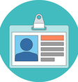 Identification card concept Flat design Icon in vector image