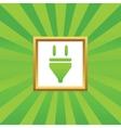 Plug picture icon vector image