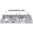Russia saint petersburg architecture line skyline vector image
