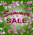 summer sale twig cherry blossoms seamless vector image