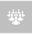 leader computer symbol vector image
