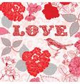Vintage love textured backgrounds vector image