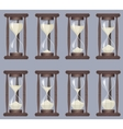 Sandglass icons animation set Time hourglass vector image