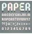 Alphabet folded paper vector image
