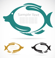 The design of the fish vector image vector image