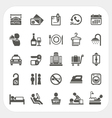 Hotel and Hotel Services icons set vector image vector image