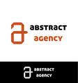 Orange a letter logo vector image
