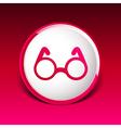 Round Glasses Icon Symbol vision specs decoration vector image