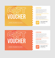 Gift voucher template set Two gift cards design vector image