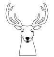 deer line icon vector image