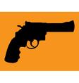 Gun silhouettes vector image