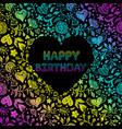 hand drawn birthday card vector image